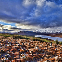 Buy canvas prints of Scottish Highland Loch by Andy Anderson