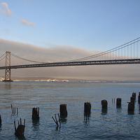 Buy canvas prints of Bay Bridge - San francisco  by Val Saxby LRPS