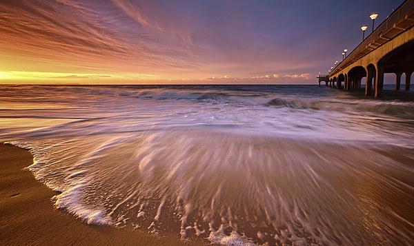 Colourful Pier Sunrise Canvas print by Jennie Franklin Landscape Prints & Canvas