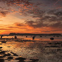 Buy canvas prints of Sunset at Poole Harbour by Jennie Franklin