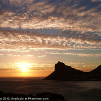 Buy canvas prints of Sunset from Chapman's Peak by Valerie Brown