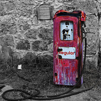 Buy canvas prints of Gasoline ends by Alfani Photography