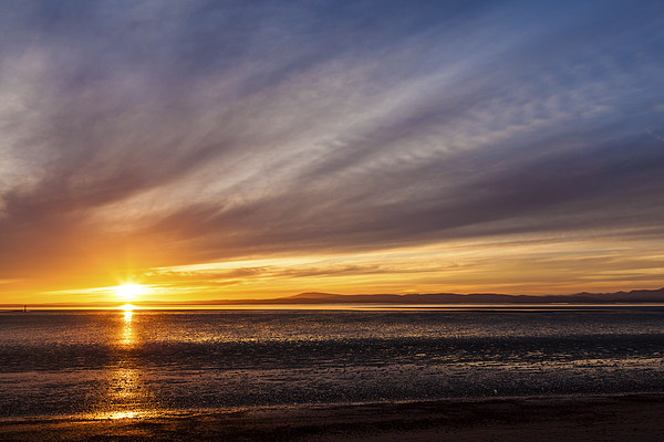 Morecambe bay sunset Framed Mounted Print by Gary Finnigan