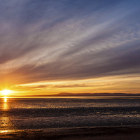 Buy canvas prints of Morecambe bay sunset by Gary Finnigan