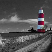 Buy canvas prints of Happisburgh Lighthouse by Simon Deacon