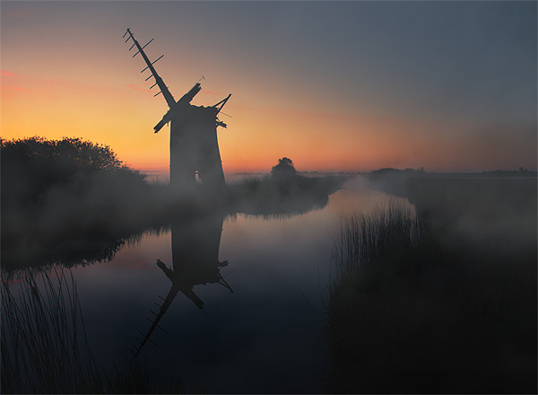 Norfolk Broads Canvas print by steve docwra