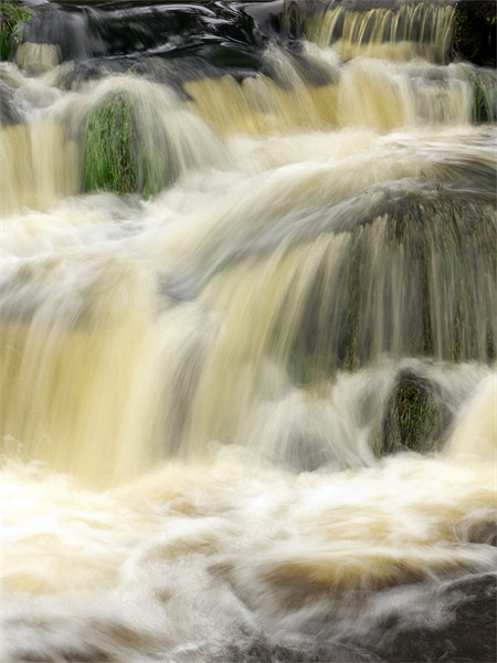water fall Framed Mounted Print by DAVID RICHARDSON