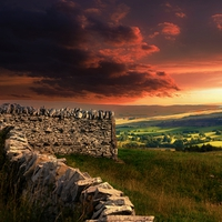 Buy canvas prints of Red sky at night, shepherds delight. by Alan Mattison