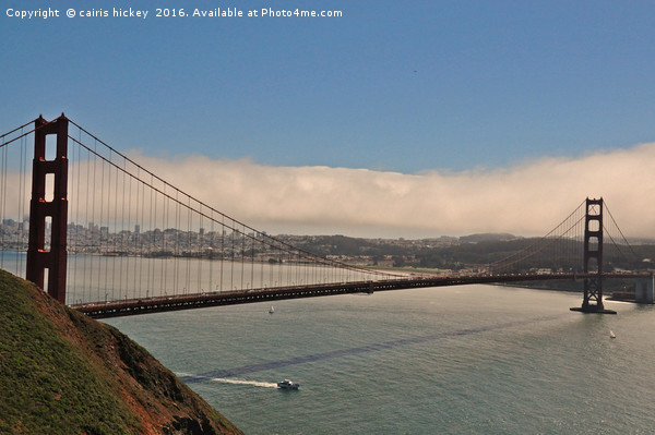 Golden gate Bridge San Francisco  Canvas print by cairis hickey