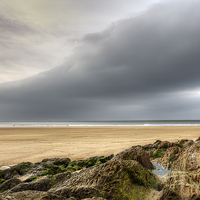 Buy canvas prints of  Woolacombe Beach by George Cox
