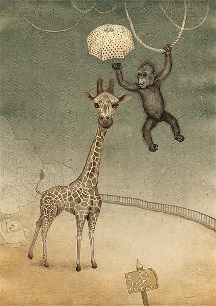 Friends forever Acrylic by Ruta Dumalakaite
