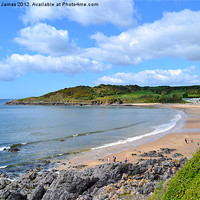 Buy canvas prints of Langland Bay, Gower by Paula J James
