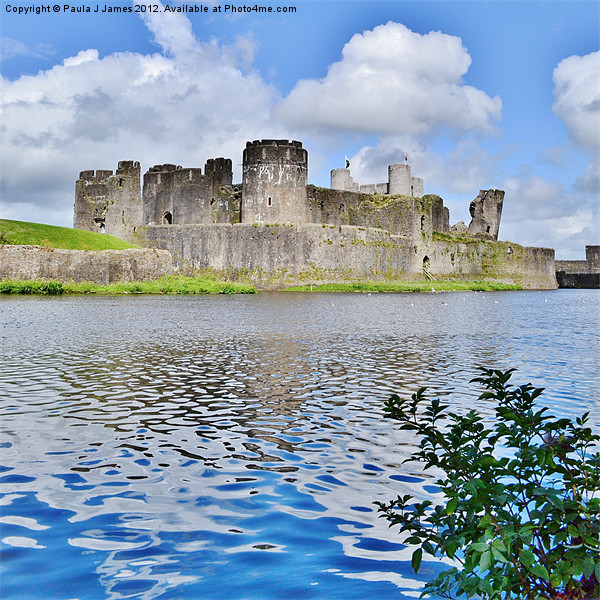 Caerphilly Castle Canvas print by Paula J James