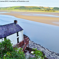 Buy canvas prints of Dylan Thomas's Boathouse by Paula J James
