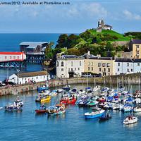 Buy canvas prints of Tenby Harbour by Paula J James