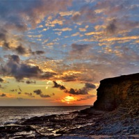 Buy canvas prints of Glamorgan Heritage Coast by Paula J James