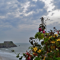 Buy canvas prints of St Catherines Island, Tenby by Paula J James