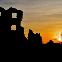 Buy canvas prints of Coity Castle by Paula J James