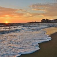 Buy canvas prints of Porthcawl Sunset by Paula J James