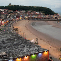 Buy canvas prints of Scarborough Beach and Castle by JEAN FITZHUGH