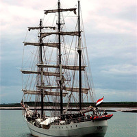 Buy canvas prints of Tall Ship by JEAN FITZHUGH