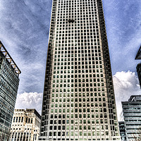 Buy canvas prints of Canary Wharf Tower London by David Pyatt