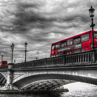 Buy canvas prints of Battersea Bridge London by David Pyatt