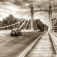 Buy canvas prints of The Albert Bridge London by David Pyatt
