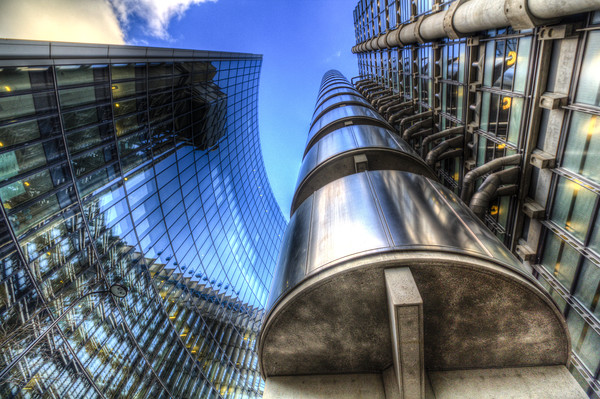 Lloyd's And Willis Group London Canvas print by David Pyatt
