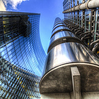 Buy canvas prints of Lloyd's And Willis Group London by David Pyatt