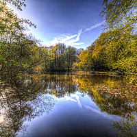 Buy canvas prints of The Mirror Pond by David Pyatt