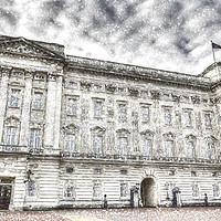 Buy canvas prints of Buckingham Palace London Snow by David Pyatt