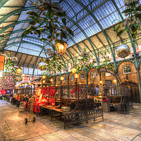 Buy canvas prints of The Apple Market Covent Garden London by David Pyatt
