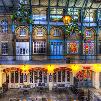 Buy canvas prints of The Punch And Judy Pub Covent Garden by David Pyatt