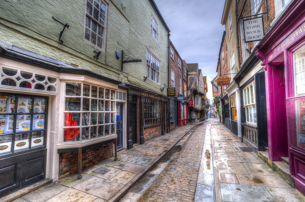 The Shambles York Framed Mounted Print by David Pyatt