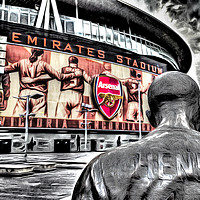 Buy canvas prints of Thierry Henry Statue Art by David Pyatt