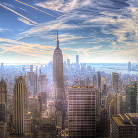 Buy canvas prints of New York Manhattan Skyline by David Pyatt