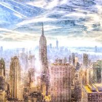 Buy canvas prints of New York Skyline Art by David Pyatt