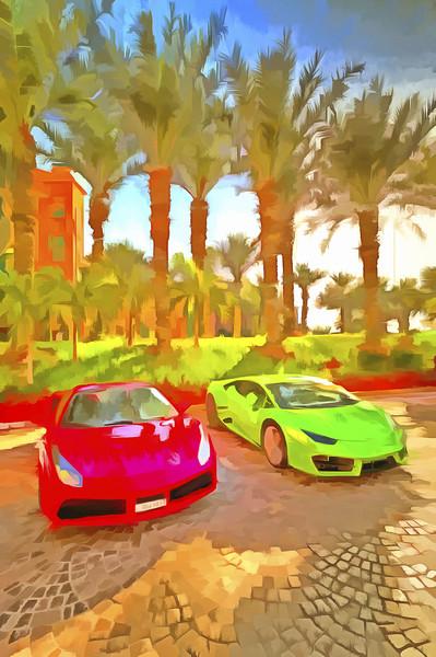 Dubai Super Cars Pop Art Print by David Pyatt