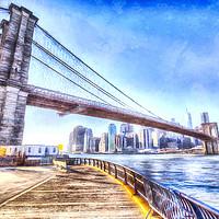 Buy canvas prints of Brooklyn Bridge Art by David Pyatt