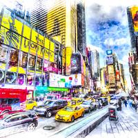 Buy canvas prints of Times Square Art by David Pyatt