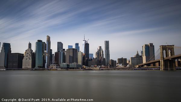 Panoramic Manhattan  Canvas print by David Pyatt