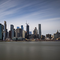 Buy canvas prints of Panoramic Manhattan  by David Pyatt