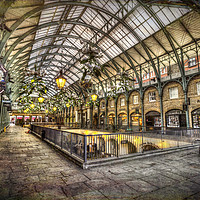 Buy canvas prints of Covent Garden Retro  by David Pyatt