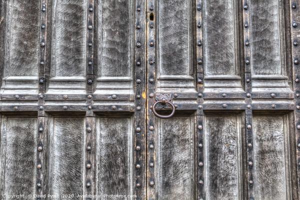 The Ancient Door Framed Mounted Print by David Pyatt