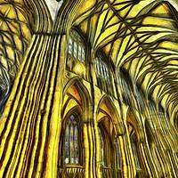 Buy canvas prints of York Minster Van Gogh by David Pyatt