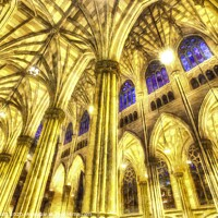 Buy canvas prints of St Patrick's Cathedral Art by David Pyatt
