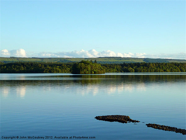 Lough Erne at Rossharbour Canvas Print by John McCoubrey