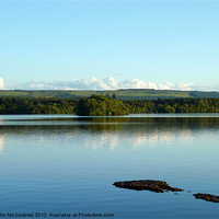 Buy canvas prints of Lough Erne at Rossharbour by John McCoubrey