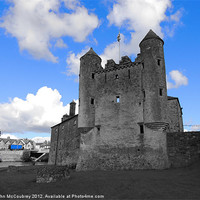 Buy canvas prints of Enniskillen Castle Blue Colour Isolation by John McCoubrey